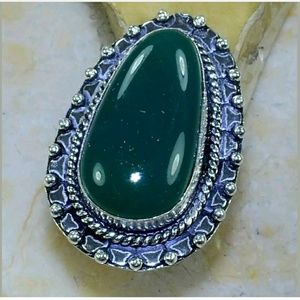 Chrysoprase ~ Handcrafted 925 Ring 7